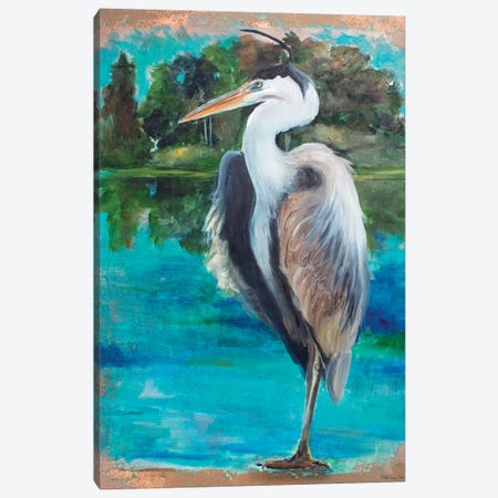 Marsh Heron Canvas Print #SLD136} by Stellar Design Studio Canvas Art Print