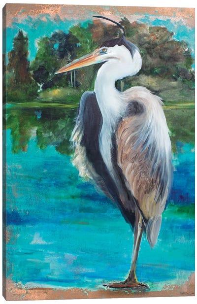 Marsh Heron Canvas Art Print