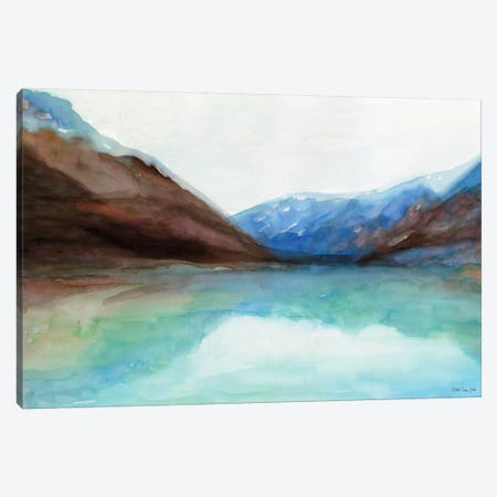 Mountain Lake VI 3-Piece Canvas #SLD137} by Stellar Design Studio Canvas Art Print