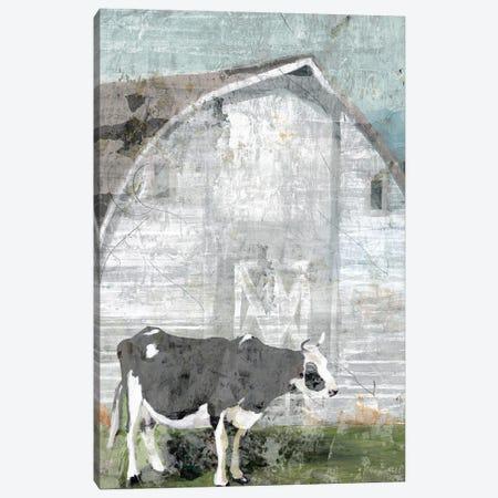 Barn with Cow Canvas Print #SLD156} by Stellar Design Studio Canvas Print