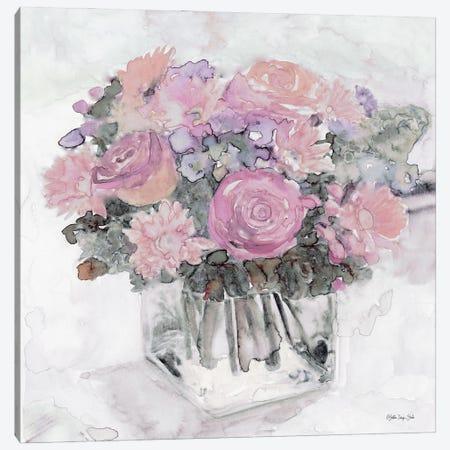Bouquet in Glass 3-Piece Canvas #SLD159} by Stellar Design Studio Canvas Wall Art