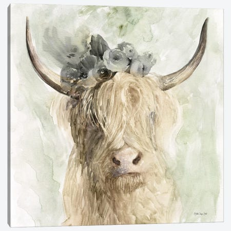 Cow and Crown I Canvas Print #SLD164} by Stellar Design Studio Canvas Wall Art