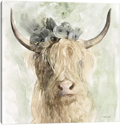 Cow and Crown I Canvas Art Print