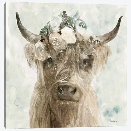 Cow and Crown II Canvas Print #SLD165} by Stellar Design Studio Canvas Art