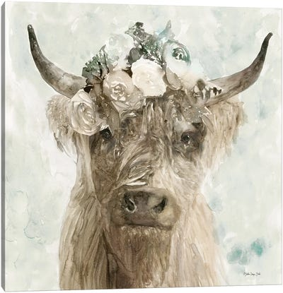 Cow and Crown II Canvas Art Print