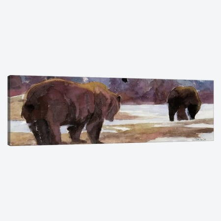 Montana Bears Canvas Print #SLD178} by Stellar Design Studio Canvas Wall Art
