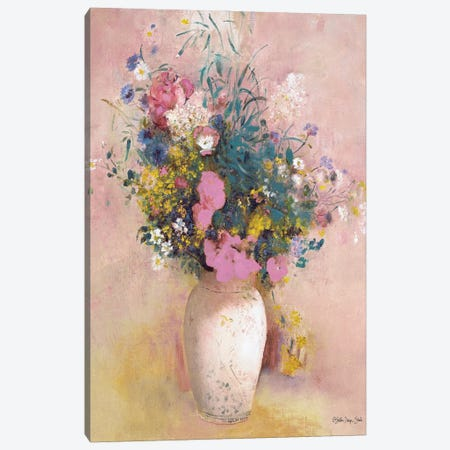 Parisian Floral Canvas Print #SLD181} by Stellar Design Studio Canvas Art Print