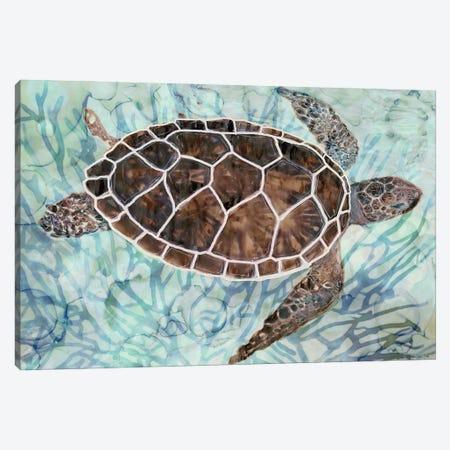 Sea Turtle Collage I Canvas Print #SLD193} by Stellar Design Studio Canvas Artwork