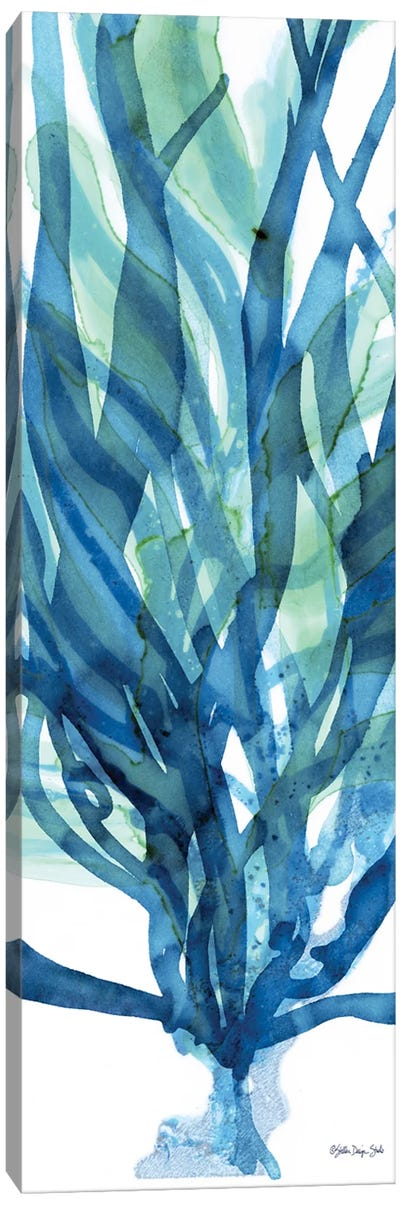 Soft Seagrass in Blue I Canvas Art Print