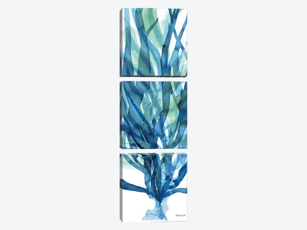 Soft Seagrass in Blue I by Stellar Design Studio 3-piece Canvas Print