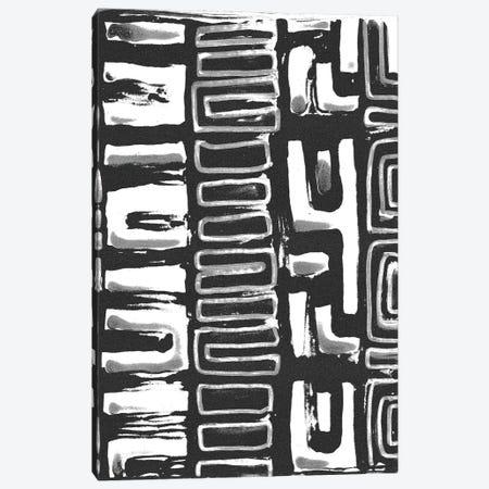 African Textile Woodcut I Canvas Print #SLD1} by Stellar Design Studio Canvas Art