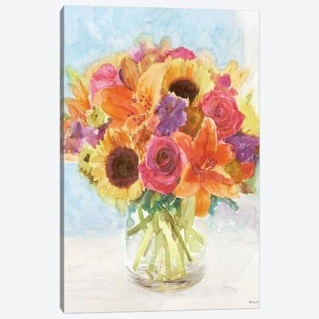 Vase with Flowers I Canvas Print #SLD205} by Stellar Design Studio Canvas Print