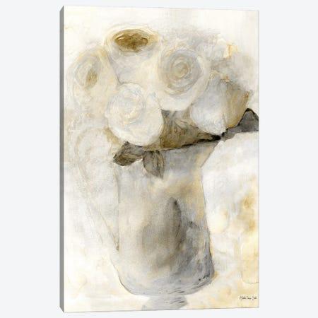 Vintage Vase with White Flowers Canvas Print #SLD207} by Stellar Design Studio Canvas Print