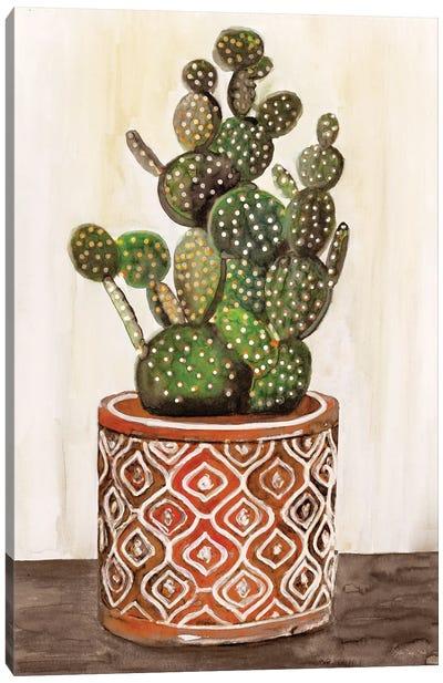 Potted Cactus I Canvas Art Print