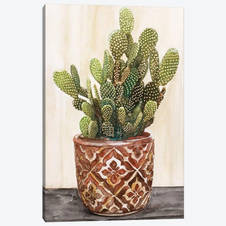 Potted Cactus II Canvas Print #SLD225} by Stellar Design Studio Canvas Print