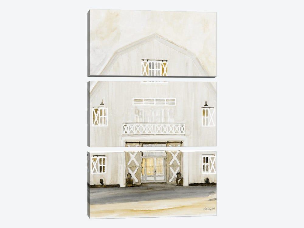 Wedding Barn by Stellar Design Studio 3-piece Art Print