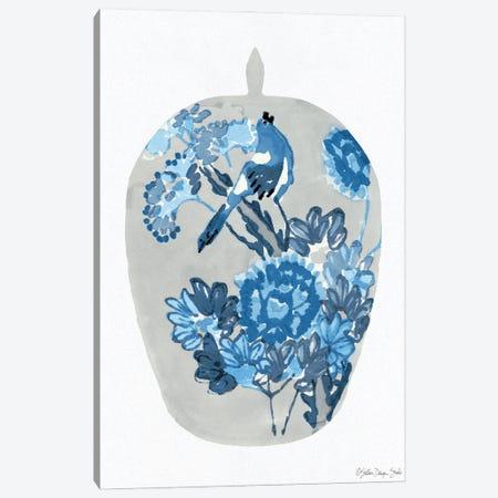 Blue Bird Vase Canvas Print #SLD248} by Stellar Design Studio Canvas Art