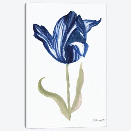 Blue Flower Stem I Canvas Print #SLD249} by Stellar Design Studio Canvas Art
