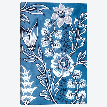 Floral Tapestry Study Canvas Print #SLD254} by Stellar Design Studio Canvas Artwork