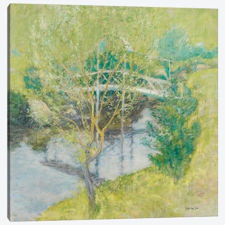 John Henry Twachtman - The White Bridge Canvas Print #SLD264} by Stellar Design Studio Canvas Art Print