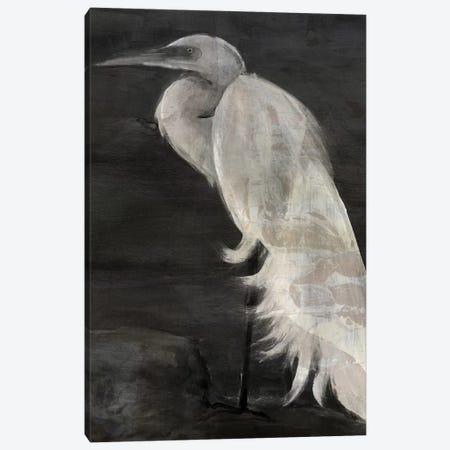 Textured Egret I Canvas Print #SLD27} by Stellar Design Studio Canvas Art