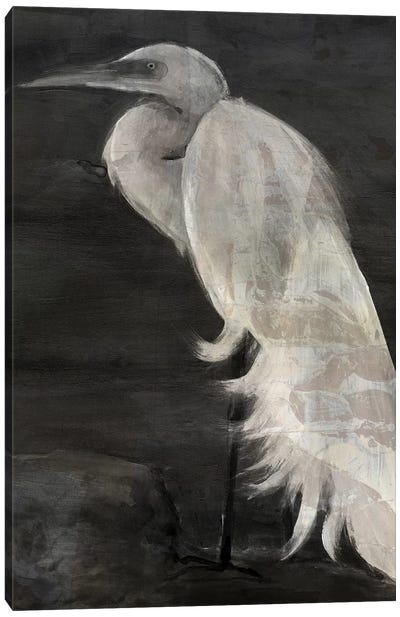 Textured Egret I Canvas Art Print