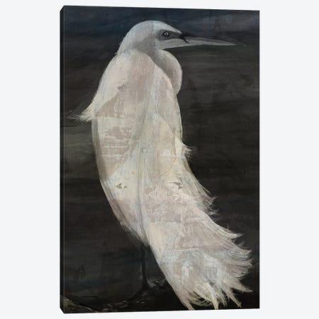 Textured Egret II Canvas Print #SLD28} by Stellar Design Studio Art Print