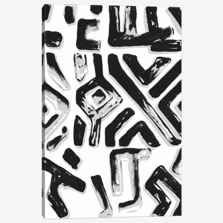 African Textile Woodcut II Canvas Print #SLD2} by Stellar Design Studio Canvas Artwork