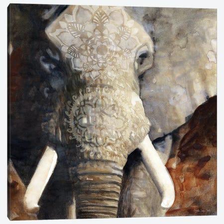Mandala Elephant Canvas Print #SLD313} by Stellar Design Studio Canvas Art