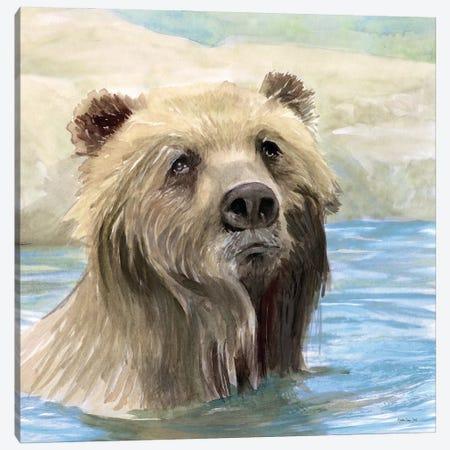Bear Bath Canvas Print #SLD322} by Stellar Design Studio Canvas Art Print