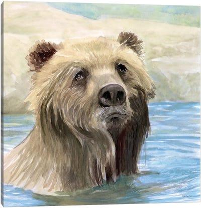 Bear Bath Canvas Art Print