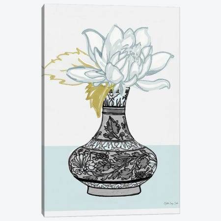 Flower Vase With Pattern I Canvas Print #SLD333} by Stellar Design Studio Canvas Wall Art