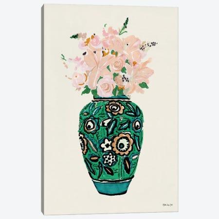 Flower Vase With Pattern II Canvas Print #SLD334} by Stellar Design Studio Art Print