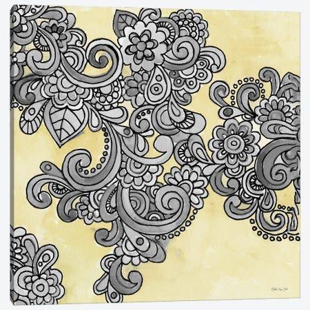 Yellow Gray Pattern I Canvas Print #SLD379} by Stellar Design Studio Canvas Art