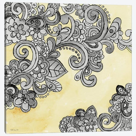 Yellow Gray Pattern II Canvas Print #SLD380} by Stellar Design Studio Canvas Art Print