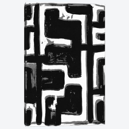 African Textile Woodcut III Canvas Print #SLD3} by Stellar Design Studio Canvas Art