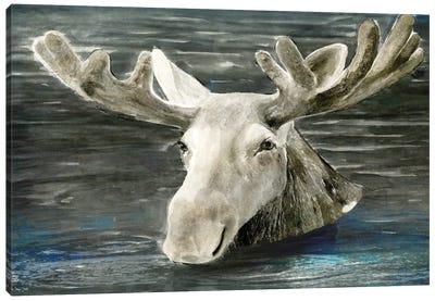 Lake Moose Canvas Art Print