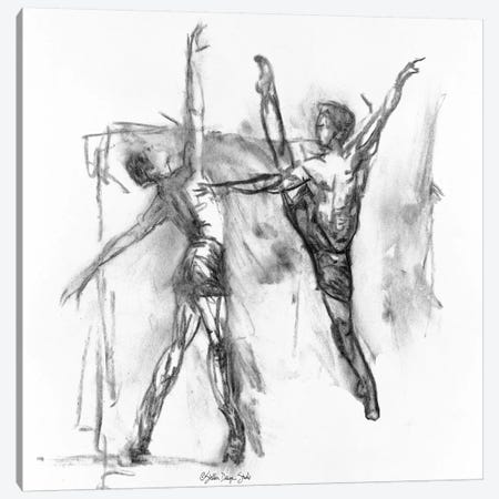 Dance Figure V Canvas Print #SLD51} by Stellar Design Studio Canvas Art
