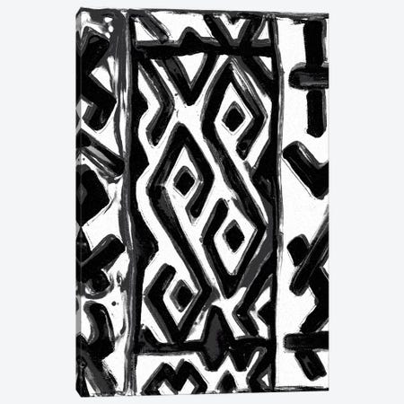 African Textile Woodcut V Canvas Print #SLD5} by Stellar Design Studio Art Print