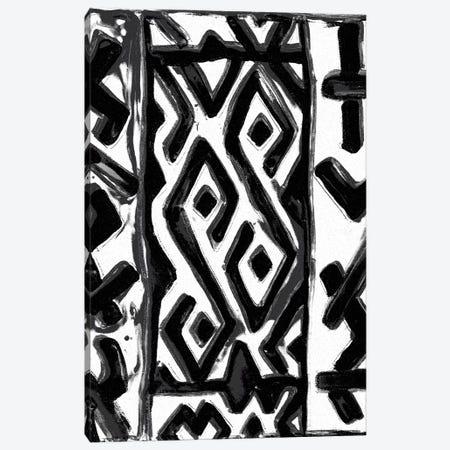 African Textile Woodcut V Canvas Print #SLD5} by Stellar Design Studio Art Print