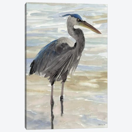 Heron In Water Canvas Print #SLD65} by Stellar Design Studio Canvas Wall Art