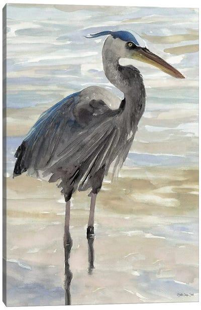 Heron In Water Canvas Art Print