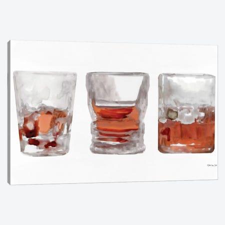 Bourbon Glasses I Canvas Print #SLD79} by Stellar Design Studio Canvas Artwork