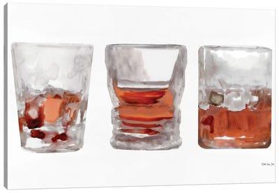Bourbon Glasses I Canvas Art Print
