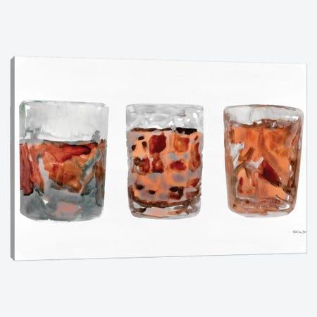 Bourbon Glasses II Canvas Print #SLD80} by Stellar Design Studio Canvas Art Print
