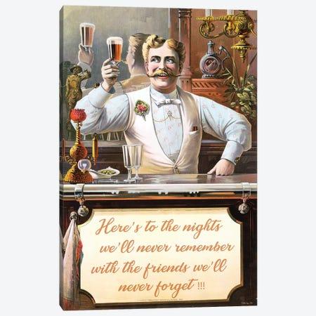 Happy Drinking Canvas Print #SLD94} by Stellar Design Studio Canvas Print
