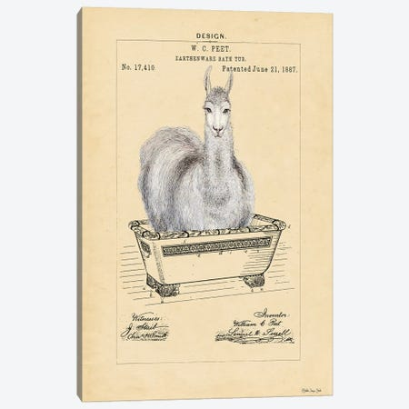 Llama in Tub Canvas Print #SLD97} by Stellar Design Studio Art Print
