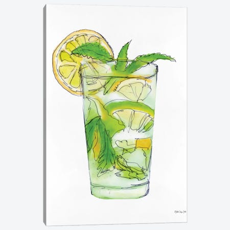 Mint Julip Canvas Print #SLD99} by Stellar Design Studio Canvas Wall Art
