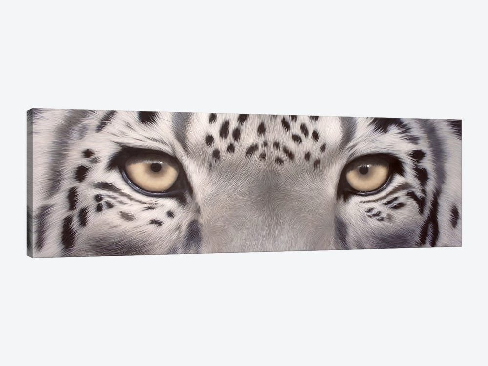 Snow Leopard Eyes by Rachel Stribbling 1-piece Canvas Print