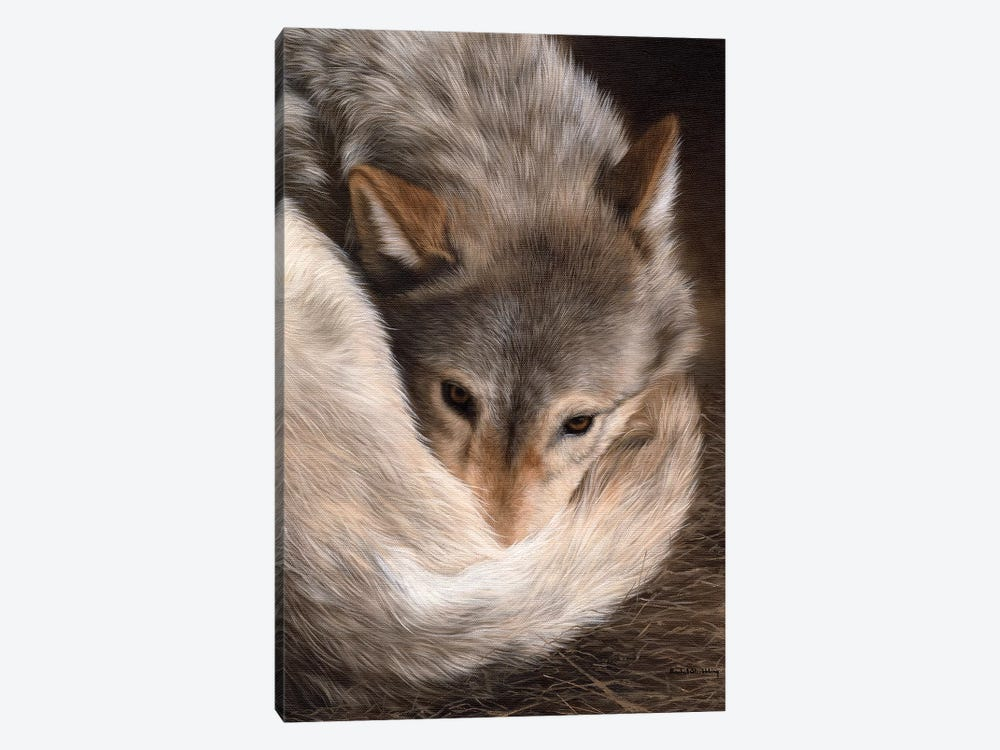 Timber Wolf by Rachel Stribbling 1-piece Canvas Wall Art